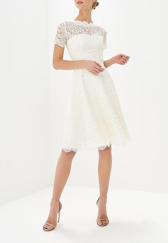 Short Wedding Dress Knee Length Gown Boho Wedding Dress Simple Etsy In 2020 Knee Length Wedding Dress Off White Dresses Short Wedding Dress