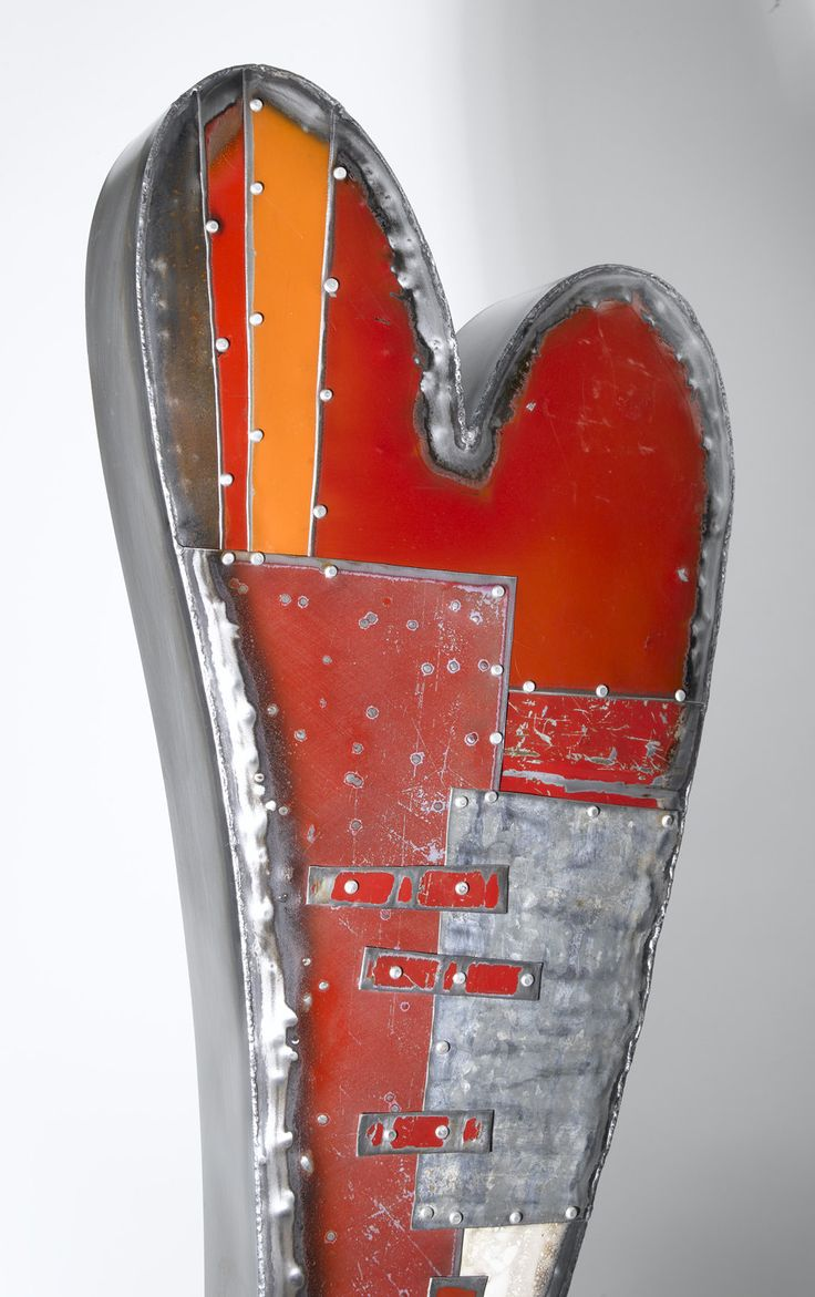 Swooping Hearts Wall Sculpture by Anthony Hansen (Metal Wall Sculpture) | Artful Home
