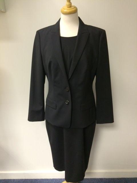 Ladies Hugo Boss two piece wool suit - dress UK 14 and blazer UK 12