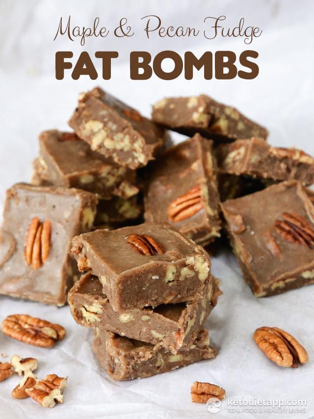 Maple & Pecan Fudge Fat Bombs (Includes recipe for Pecan Butter. 4 ...