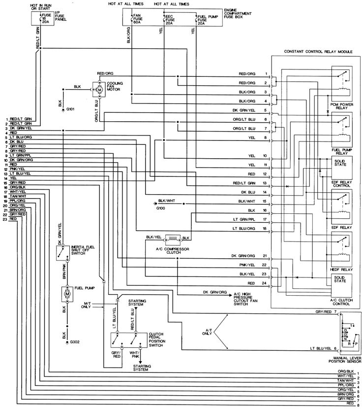98 mustang wiring diagram  with images