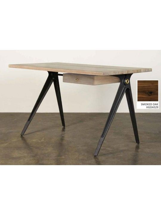 """Compass 55"""" Desk in Smoked by Nuevo Living"""