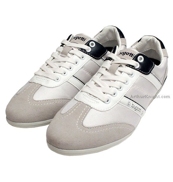 Grey & White Designer Bugatti Sneakers from Arthur Knight