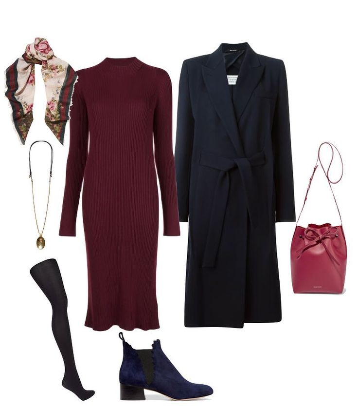Long coat and ankle boots
