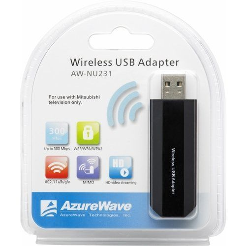 Mitsubishi AWNU231 IEEE 802.11n USB Wi-Fi Adapter by Mitsubishi. $34.67. mitsubishi's aw-nu231 usb adapter takes your hdtv from bland to more-entertainment-than-you-can handle. use it to connect your mitsubishi 738 or 838 series tv to your home network and enjoy hours of streaming internet media.  the perfect companion for your mitsubishi 738 or 838 hdtv is mitsubishi's aw-nu231 usb wifi adapter. add to your wifi arsenal and enjoy streamtv internet media such as vudu or ...