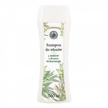 Szampon do włosów z olejkiem z drzewa herbacianego - Produkty Benedyktyńskie    Szampon do włosów z olejkiem z drzewa herbacianego jest naturalnym środkiem pielęgnującym. Przeznaczony do systematycznego mycia włosów normalnych i przetłuszczają...