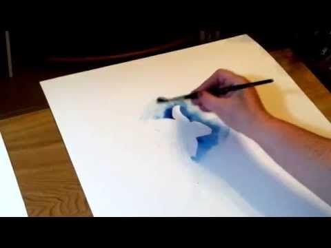 (26) Negativtechnik in der Aquarellmalerei – YouTube