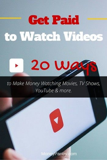 20 Ways you can make money for simply watching videos and TV shows