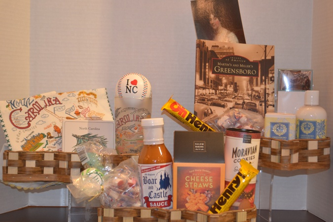 custom gift baskets with Eat Local, Magical Museum and North ...