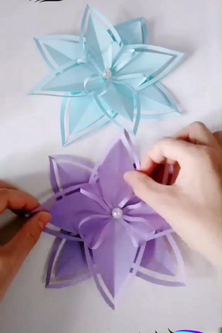 Creative Ways Inspirational Paper Christmas Decorations Diy 3 Paper Crafts Diy Paper Flowers Craft Flower Crafts
