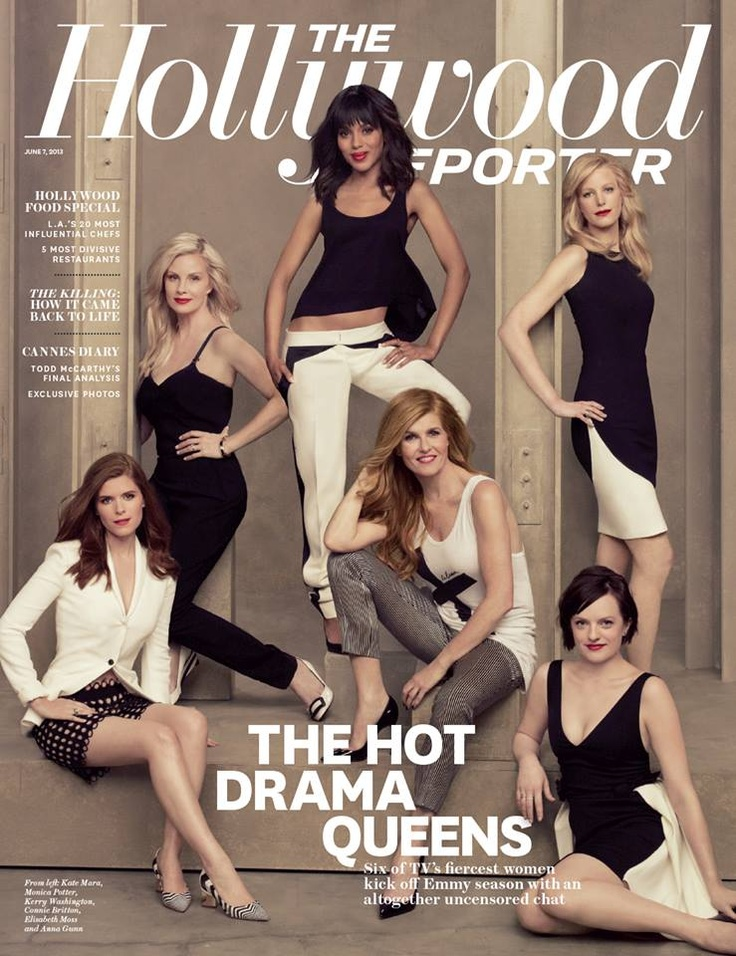 The Hollywood Reporter: Emmy Roundtable Drama Actresses - Kate Mara (House of Cards), Monica Potter (Parenthood), Kerry Washington (Scandal), Connie Britton (Nashville), Elisabeth Moss (Mad Men), Anna Gunn (Breaking Bad)
