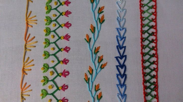 Hand embroidery stitches tutorial for beginners.                                                                                                                                                                                 Mais