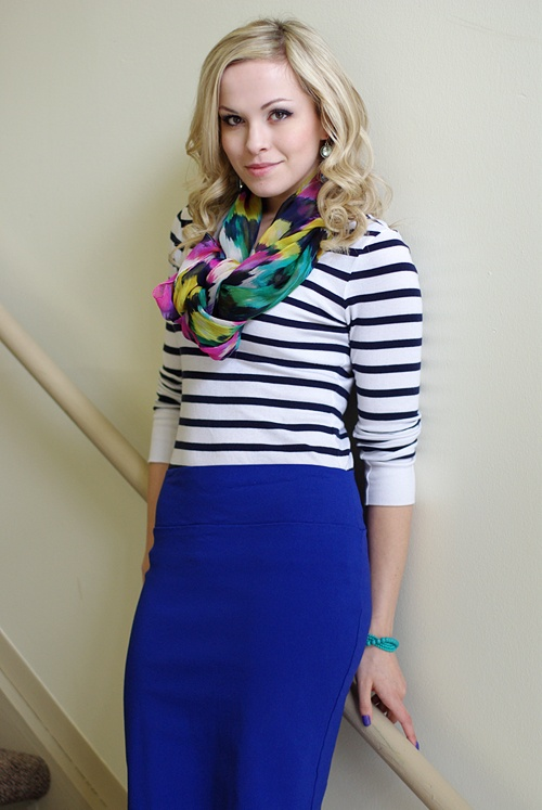 Best 25  Blue skirt outfits ideas only on Pinterest | Cobalt blue ...