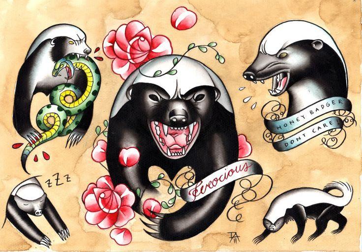 Honey Badger Flash  Ink Trails Tattoo Forum Tattoo Inspiration | tattoos picture tattoo forum
