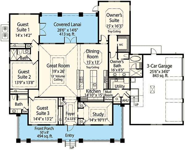 74 best images about custom home plans on pinterest for Study bed plans
