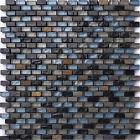 1 SQ M Black Blue Green Brown Stone Glass Mix Bathroom Basin Mosaic Tiles MT0126