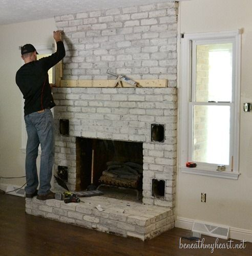 Astonishing Full Wall Brick Fireplace Makeover 1000 Ideas About Home Interior And Landscaping Ponolsignezvosmurscom