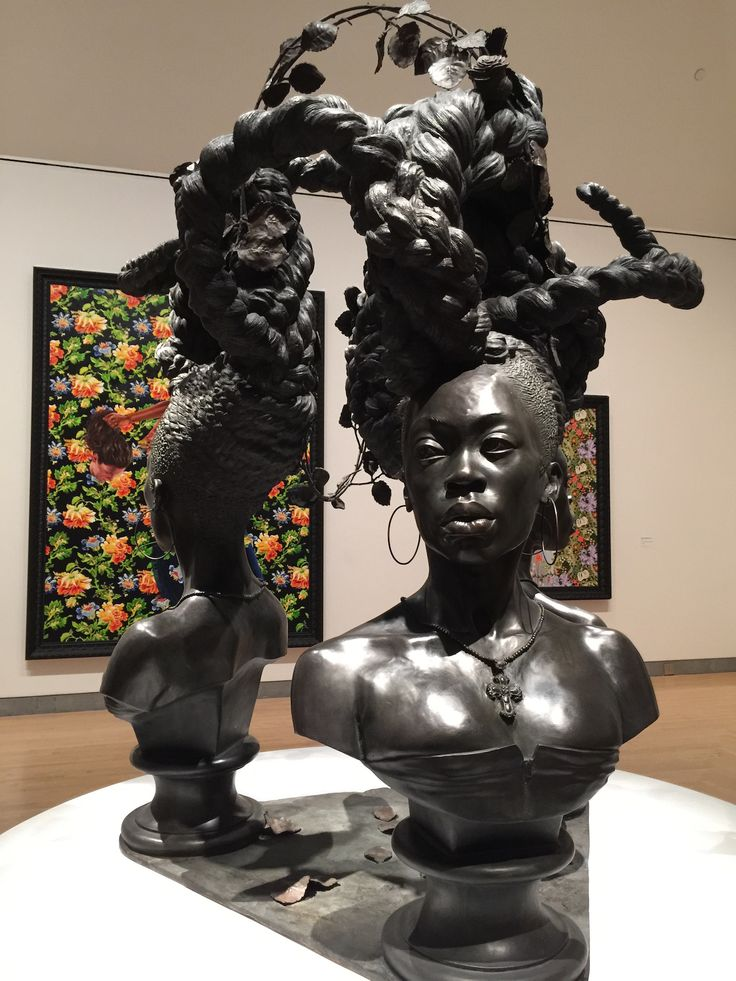 "Kehinde Wiley's ""Bound"" (2014), on display as part of ""Kehinde Wiley: A New Republic"" at the Brooklyn Museum"