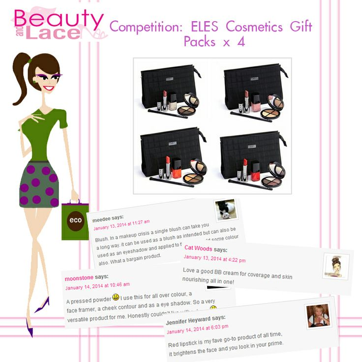 Beauty and Lace is giving away not one but FOUR ELES Cosmetics gift packs filled with mineral makeup must-haves! Click the link to win 1 of 4 beauty totes. It's so easy to join!  http://naturalgirl.beautyandlace.net/competition-eles-cosmetics-gift-packs-x-4  #competition #Australia #elescosmetics #Mineral #makeup #beauty #gift