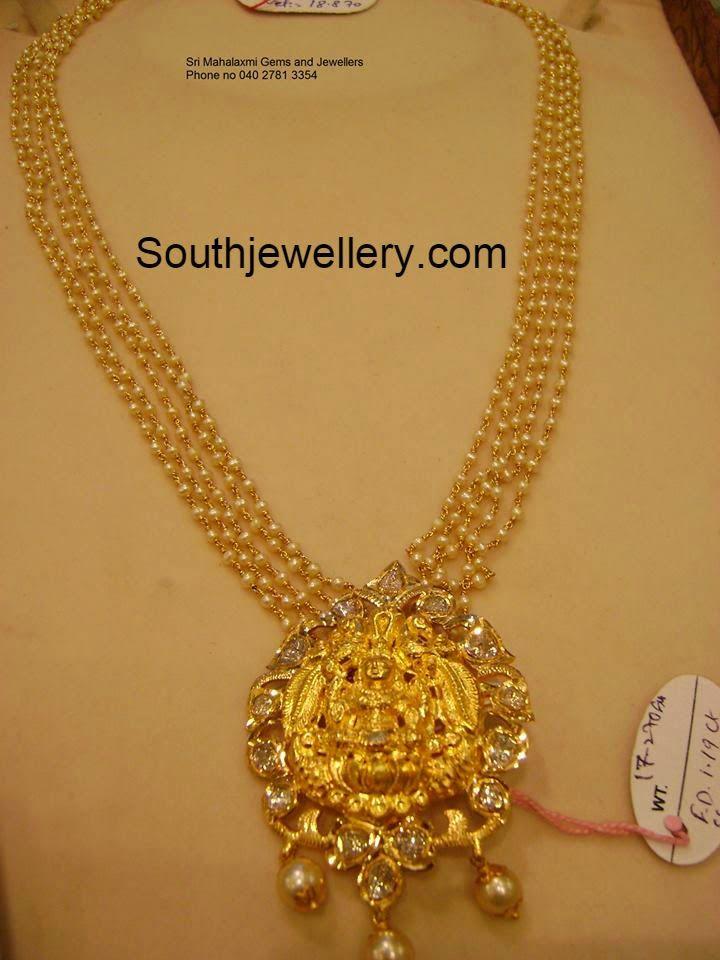 Pearls Haram with Lakshmi Pendent