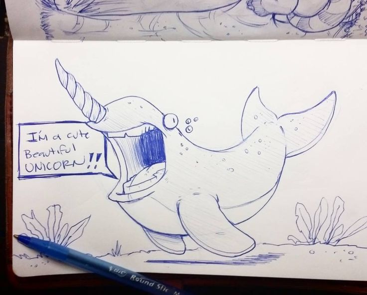 Im a motha fuckin unicorn!!! Lol saw a cool post from the awesome @squidbrains with a cute lil narwall in space and had to draw one too. Thanks for the inspiration :) have a great thursday everyone! #rodgontheartist #doodles #sketches #drawings #sketch #art #sketching #cartoon #design #drawing #artwork #sketchbook #illustrator #illustration #narwal #whale #animal #disney #characterdesign #animation
