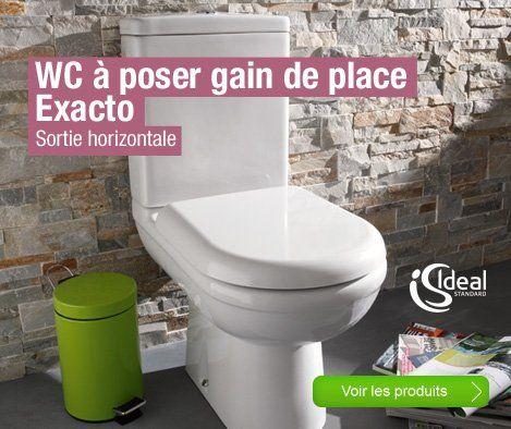 Les 26 meilleures images propos de salle de bain sur pinterest ardoise c - Lapeyre wc gain de place ...