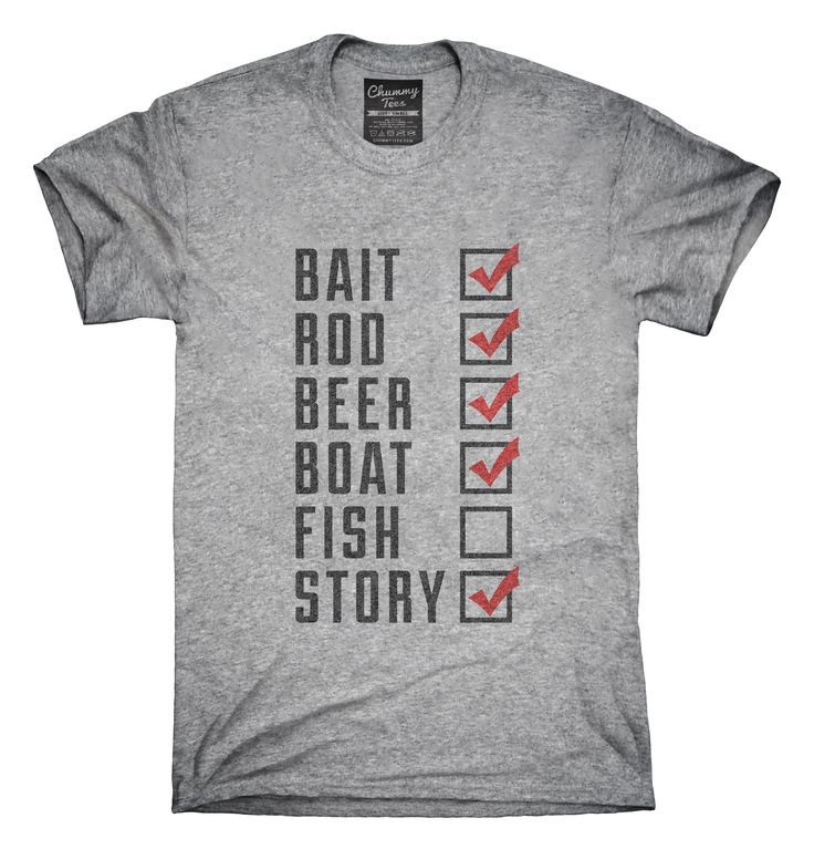 Funny Fishing Check Off List T-shirts, Hoodies,