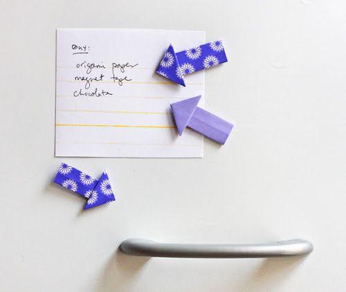 IMANES Flechas origami HACER DE COMO