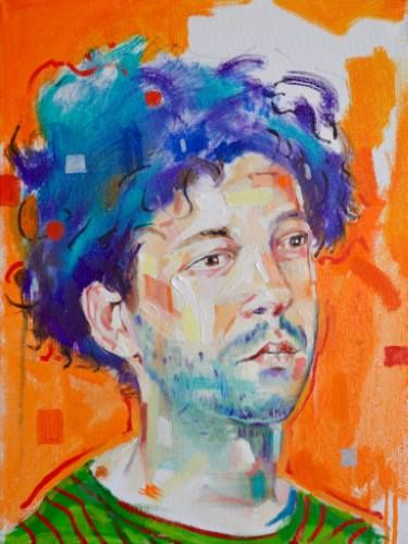 "Saatchi Art Artist Ian Mcgregor; Painting, ""Portrait of a young man"" #art"