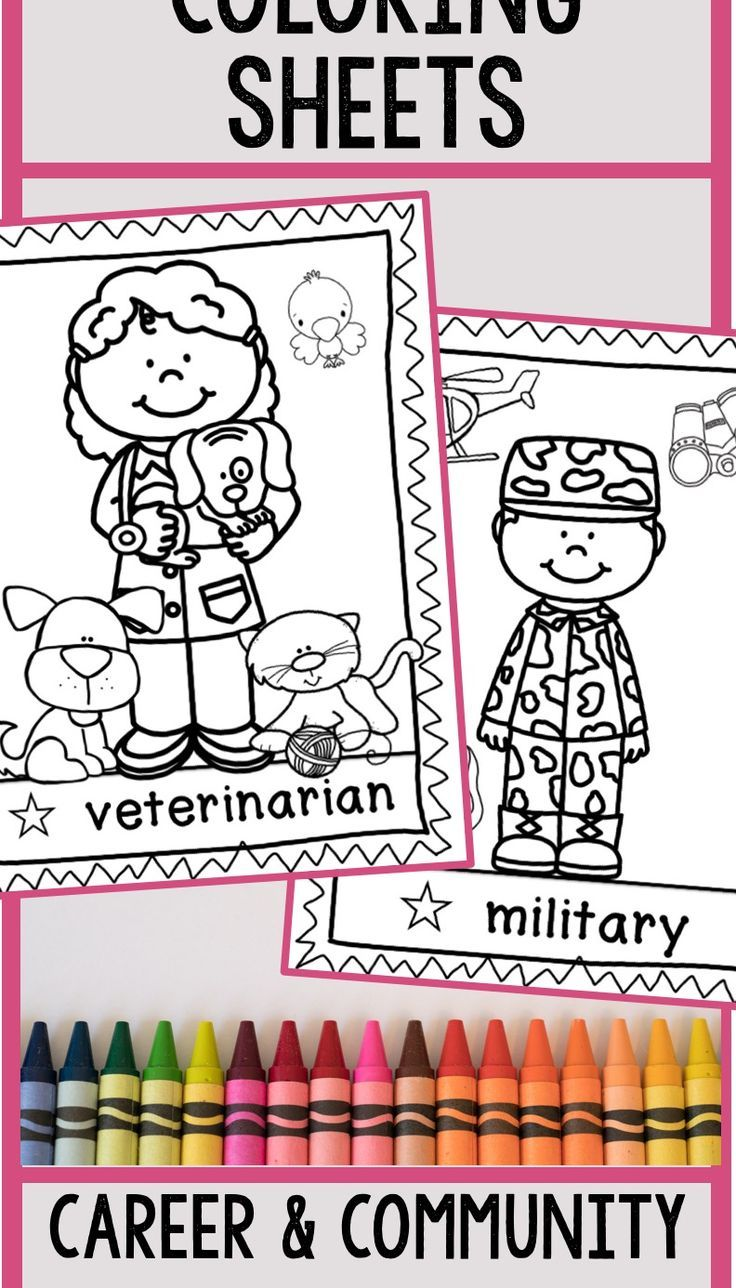 Coloring Sheets Community Helpers Community Helpers Coloring Sheets Color Activities