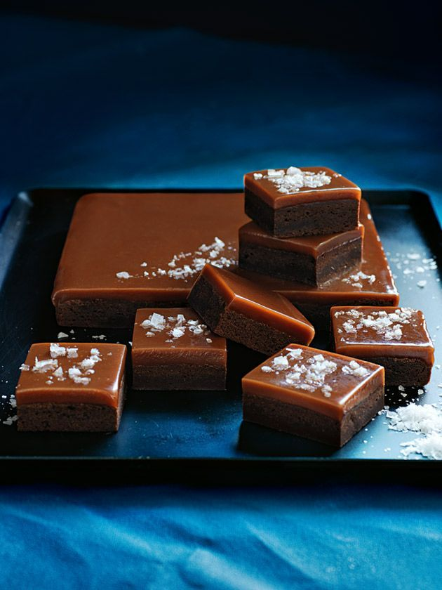 salted caramel brownie squares our beautiful cover recipe from donna hay magazine issue 80 autumn 2015