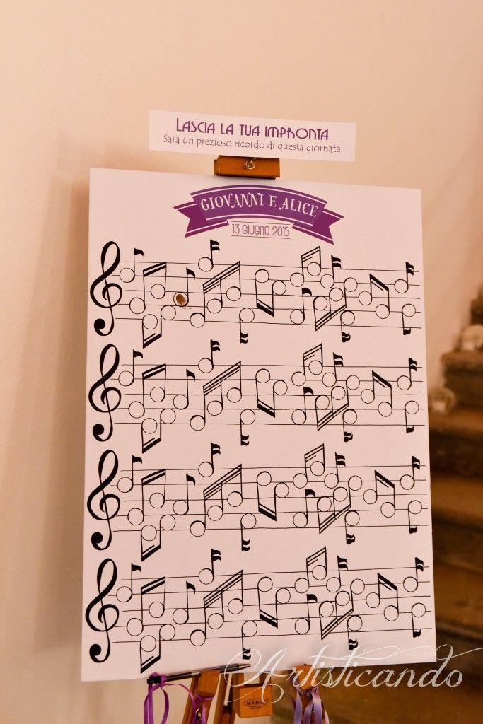 matrimonio e musica - tulle e confetti - PANNELLO GUEST BOOK. Music guestbook #wedding