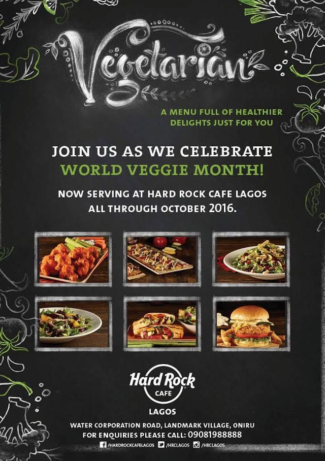 HARD ROCK CAFE LAGOS GOES GREEN AS WE INTRODUCE OUR VEGGIE MENU ON INDEPENDENCE DAY