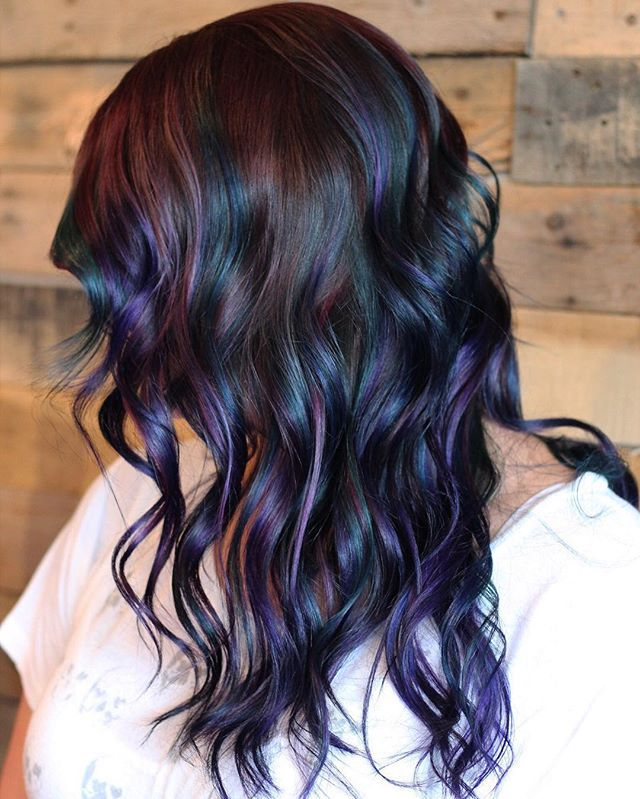 Colorful Hairstyles 24 colorful hairstyles to inspire your next dye job brit co Oil Slick Inspo By Tdresbach Jgrahamstudiosalon Paulmitchellus Balayage