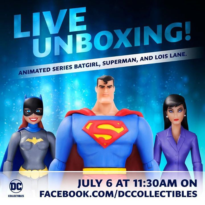 Join DC Collectibles tomorrow at 11:30AM PT, where they'll be unboxing the Animated Series Batgirl, Superman, and Lois Lane figures! #Batman #dccomics #superman #manofsteel #dcuniverse #dc #marvel #superhero #greenarrow #arrow #justiceleague #deadpool #spiderman #theavengers #darkknight #joker #arkham #gotham #guardiansofthegalaxy #xmen #fantasticfour #wonderwoman #catwoman #suicidesquad #ironman #comics #hulk #captainamerica #antman #harleyquinn