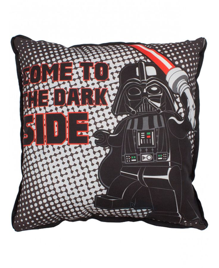 This cool Lego Star Wars Villains Canvas Cushion features Lego Darth Vader on one side and an army of Stormtroopers on the other. Free UK delivery available