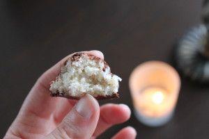 Chocolate Dipped Vanilla Coconut Macaroons