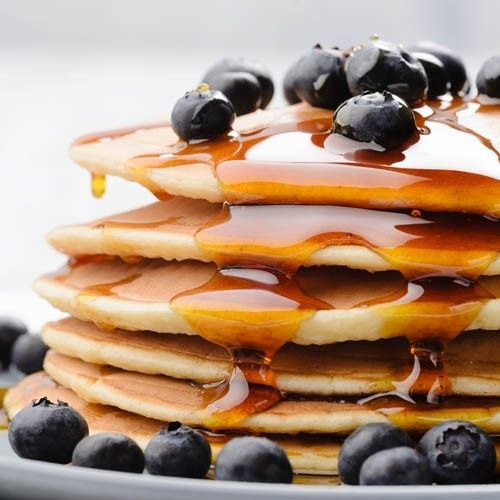 Homemade Skinny Pancakes | Only 56 Delicious Calories per Pancake | Made with Whole Wheat Flour & @egglandsbest   .client | For MORE RECIPES please SIGN UP for our FREE NEWSLETTER www.NutritionTwins.com