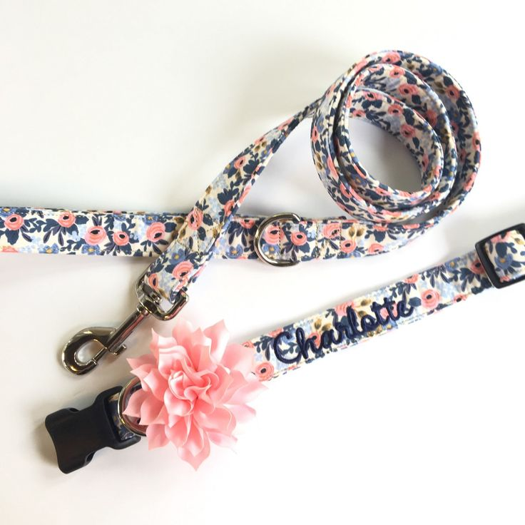 Floral collar and leash