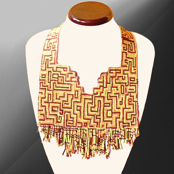 Greek lines necklace by SpiralDesignJewelry on Etsy, $240.00