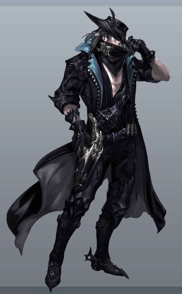 Concept of the Gunslinger (name not final) male, one of three new classes coming in Aion 4.0! Submit designs for his pistols and cannons to LeaveYourLegacy@ncsoft.com, up to November 15!