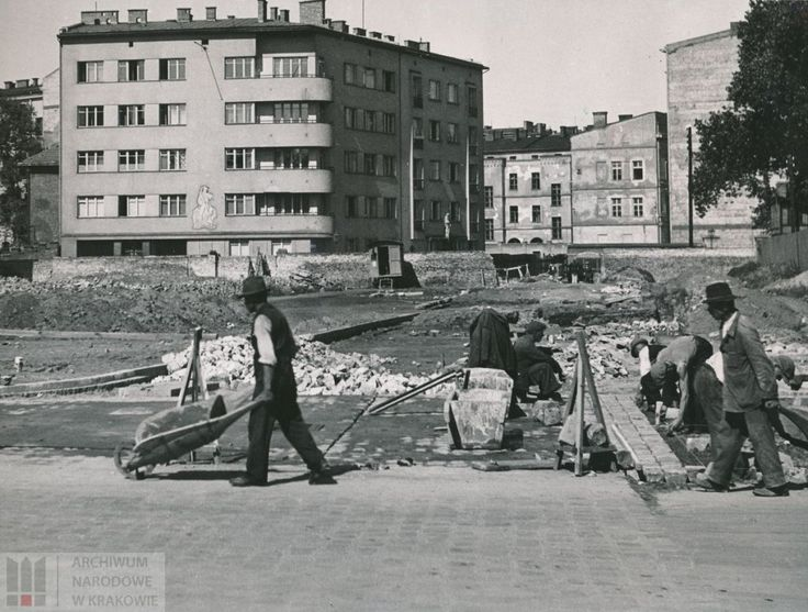 Pawia Street, Kraków ca. 1942