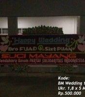 karangan bunga dui Auditorium USU Medan