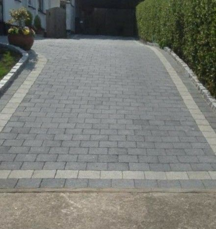 Found on Google Search stretcher bond driveway charcoal with silver border