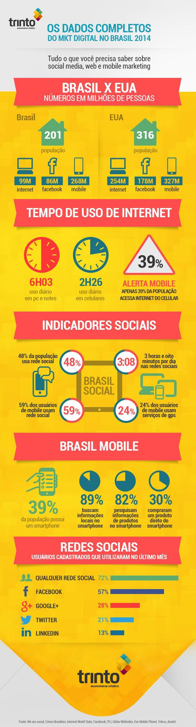 Os dados completos do MKT Digital no Brasil em 2014!
