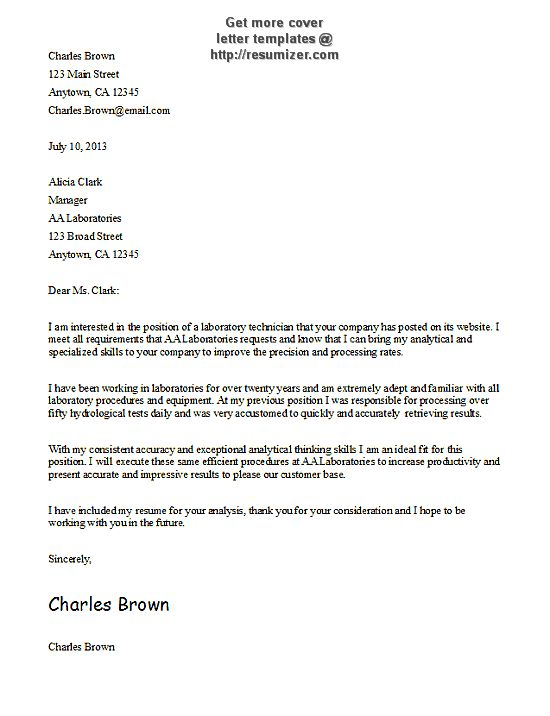 basic-cover-letter-template404 | Simple cover letter ...