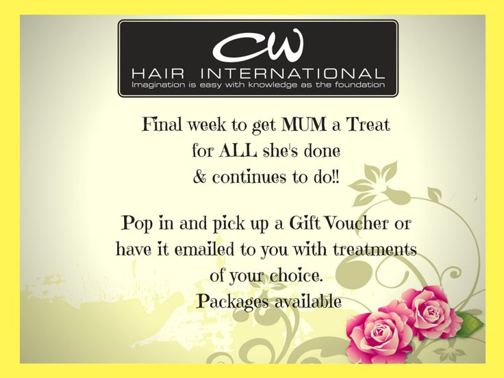 Mothers Day Packages Available