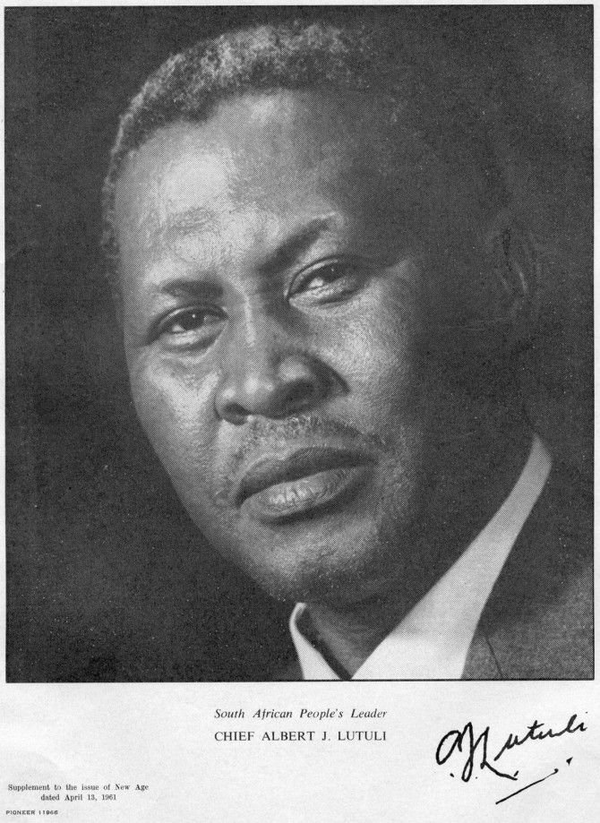 Albert Luthuli 							         			        			 									        		 												 			             						Chief Albert Luthuli was the president of the African National  Congress from 1953-1967. He was the first African recipient of the Nobel  Peace prize for his outstanding contribution in South African and  African politics.