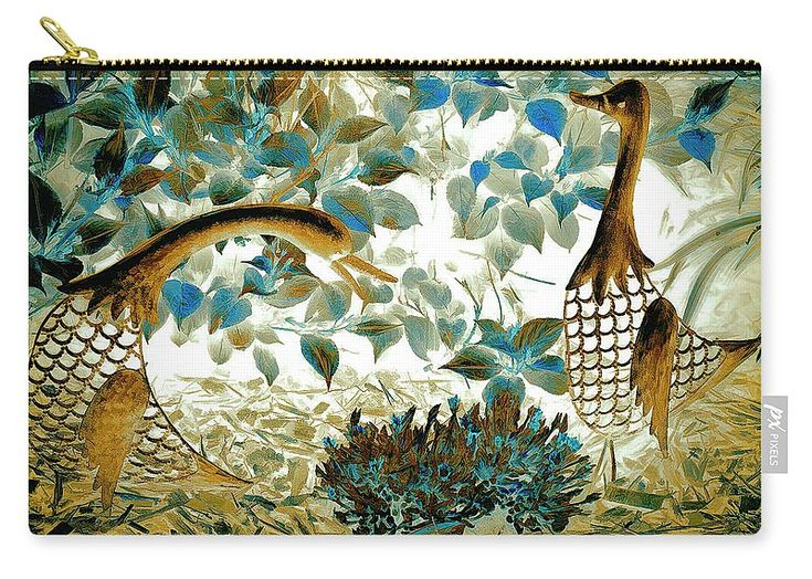 "Mother Goose And The Great Egg Hunt Carry-All Pouch by Leslie Montgomery.  Our pouches are great.  They're availabe in sizes from 6"" x 5"" up to 12.5"" x 8.5"".  Each pouch is printed on both sides (same image)."