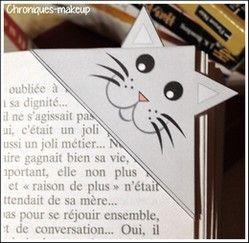 Marque page chat à imprimer
